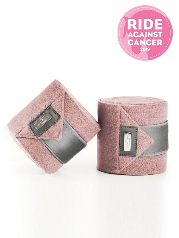 Equestrian Stockholm Fleece Bandages Pink