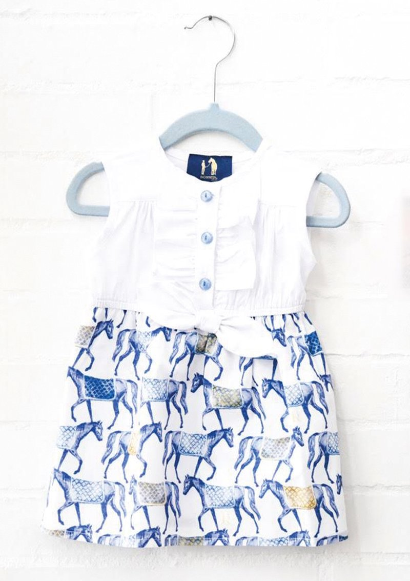 Ronner Design Miranda Knot Dress Horse Harvest Blue