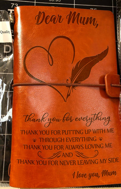 MUM - THANK YOU FOR EVERYTHING - VINTAGE JOURNAL
