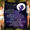 DAUGHTER MOM - BELIEVE IN YOURSELF - FLEECE BLANKET