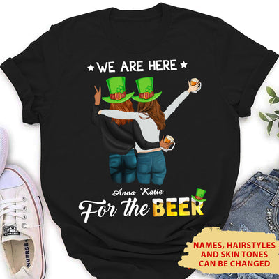 We Are Here - Personalized Custom Women's T-shirt