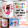 Today's Goal - Personalized Custom Mug - Gift For Mom To Be