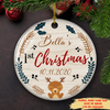Baby First Christmas - Personalized Ceramic Christmas Ornaments - 8714