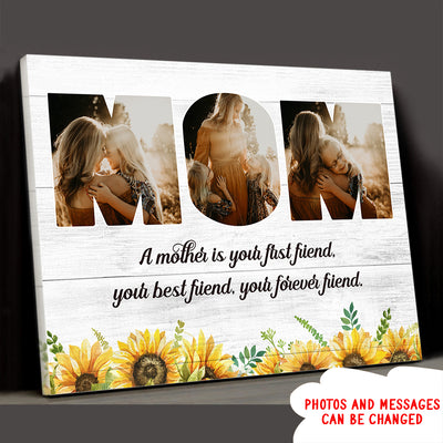 Message To Mom - Personalized Custom Photo Canvas