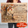 Personalized Custom Canvas - You're My Life - Autumn Background - Gift for Couples, Anniversary Gift, Wall Art, Home Decor
