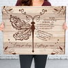 Loving You Always, Forgetting You Never - Premium Matte Canvas - Dragonfly Memorial Canvas Gifts