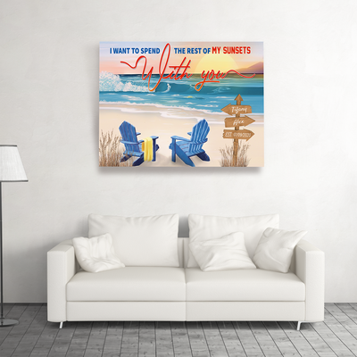 Our Sunsets  - Personalized Custom Matte Canvas - Gifts For Spouses