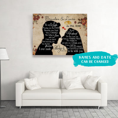 Forever And Always - Personalized Custom Canvas - Gifts For Couples