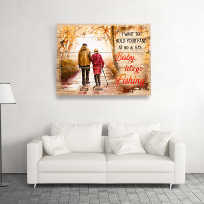 Hold Your Hand - Personalized Custom Matte Canvas