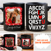 Alphabet I Love You - Personalized Custom Photo Coffee Mug