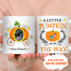 A little pumpkin is on the way - Personalized Custom Photo Coffee Mug - Mom-to-be Mug