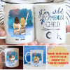 Stay Wild Moon Child - Personalized Custom Coffee Mug, Best Friend Mugs