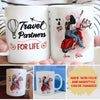 Travel Partners For Life - Personalized Custom Coffee Mug - Gifts For Best Friends