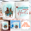 Friendship Warms The Heart - Personalized Custom Coffee Mug - Mug For Besties