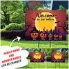 PERSONALIZED CUSTOM YARD SIGN - WELCOME TO THE MICKEY & MINNIE PUMPKIN FAMILY - HALLOWEEN YARD SIGN