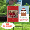 Santa Please Stop Here - Personalized Custom Yard Sign - Christmas Gifts