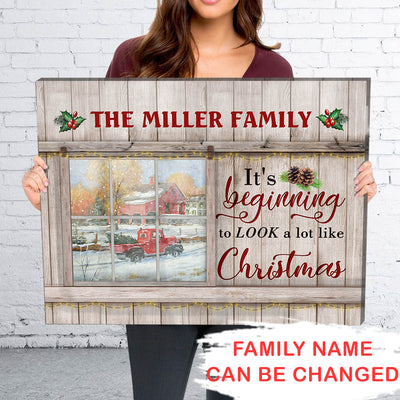 Look A Lot Like Christmas - Personalized Custom Canvas - Christmas Gifts