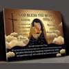 God Bless You - Premium Matte Canvas - Gifts For Mom To Be