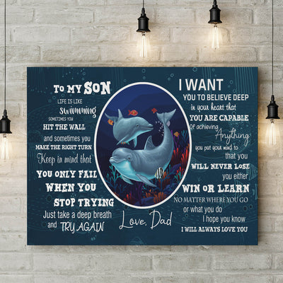 Life Is Like Swimming - Matte Canvas - Gifts For Son