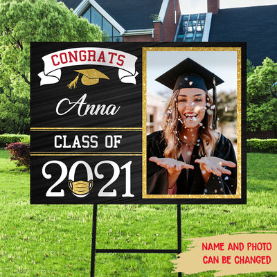 Congrats Class Of 2021 - Personalized Custom Yard Sign