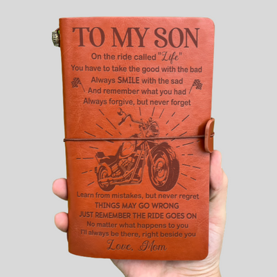 SON DAD - THE RIDE GOES ON - VINTAGE JOURNAL