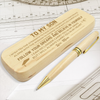 SON MOM - BELIEVE IN YOURSELF - ENGRAVED WOOD PEN CASE