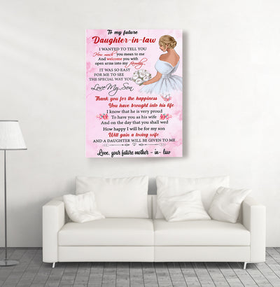 To My Future Daughter-in-law - Personalized Custom Canvas - Gifts For Daughter-in-law