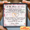 Thank You For Loving Me As Your Own – Personalized Custom Interlocking Hearts Necklace - Gifts For Mother-In-Law