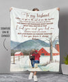 Together Till The End - Personalized Custom Fleece Blanket