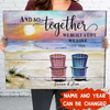 PERSONALIZED CUSTOM CANVAS - AND SO TOGETHER WE BUILT A LIFE WE LOVE - HOME DECOR, WALL ART