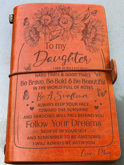 Daughter Mom - Be A Sunflower - Vintage Journal