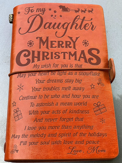 DAUGHTER MOM - LOVE AND PEACE - VINTAGE JOURNAL