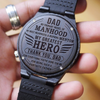 Father's Day Gift - Thank You Dad My Greatest Hero - Wood Watch