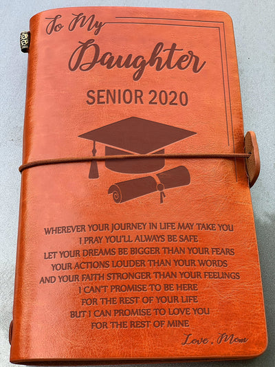 DAUGHTER MOM - ALWAYS BE SAFE - SENIOR 2020 - VINTAGE JOURNAL