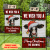 Mooey Christmas - Personalized Custom Garden Flag -  Cow Christmas Decor
