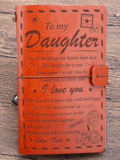 DAUGHTER DAD - THE MOST BEAUTIFUL CHAPTERS - VINTAGE JOURNAL