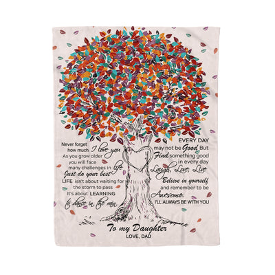 Daughter Dad - Dance in the Rain - Fleece Blanket