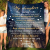 Daughter Mom - Keep Shining Beautiful One - Fleece Blanket