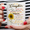 TO MY DAUGHTER MOM - NEVER FORGET - WHITE MUG