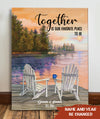 Together is our favorite place to be - Personalized custom canvas - Home Decorations