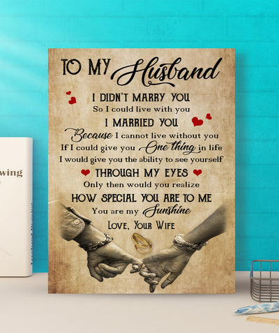 How Special You Are To Me - Premium Matte Canvas - Gifts For Husband