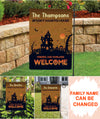 Haunted House - Personalized Custom Garden Flag - Halloween Flag