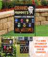 Personalized Custom Garden Flag - Grandparents' Little Monster - Halloween Decor