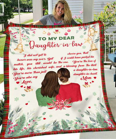 Daughter-in-heart - Personalized custom fleece blanket