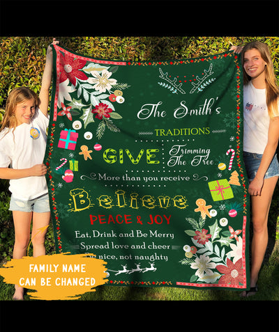 Our Christmas - Personalized Custom Blanket - Christmas Gifts