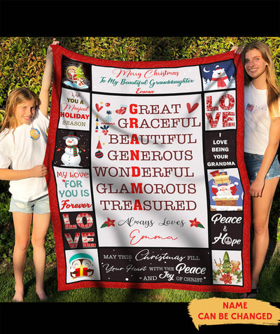 I Love Being Your Grandma - Personalized Custom Blanket