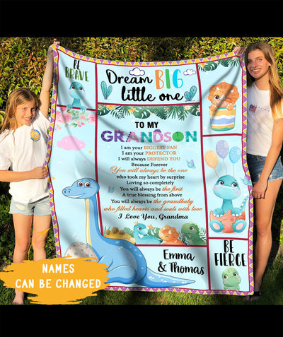 Always - Personalized Custom Fleece Blanket - Gifts From Grandma To Grandson