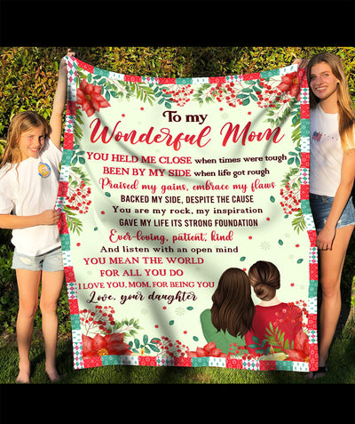 For being you - Personalized Custom Fleece Blanket