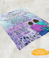 Wonderful Mother-In-Law - Personalized Custom Fleece Blanket