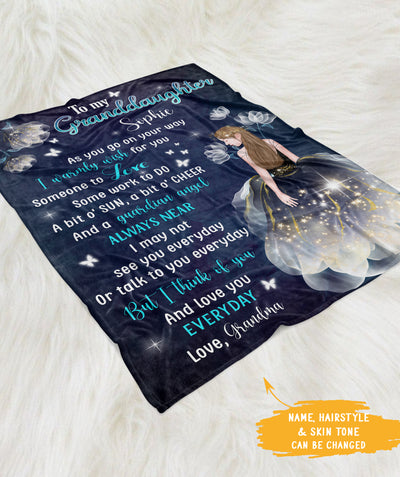 Warm Wishes For You  - Personalized Custom Fleece Blanket - Grandma Granddaughter
